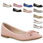 Damen Ballerinas Glitzer Slipper Flats Metallic Schuhe 814837 New Look