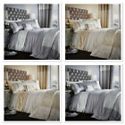 Catherine Lansfield Luxor Jacquard Luxury Quilt/ Duvet Cover Bedding Silver Gold