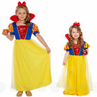 GIRLS SNOW PRINCESS FANCY DRESS COSTUME WHITE FAIRYTALE GIRL OUTFIT KIDS CHILDS