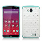 For LG Verizon Transpyre HYBRID IMPACT Dazzling Diamond Case Cover Accessory