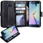 SAMSUNG GALAXY S6 EDGE PU LEATHER WALLET CASE FLIP COVER WITH CARD SLOTS STAND