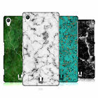 HEAD CASE DESIGNS MARBLE PRINTS HARD BACK CASE FOR SONY PHONES 2