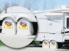 LSU Tigers Exact Fit Size White Vinyl Tire Shade Cover