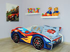 Racing Car Bed Children Boys Girls Bed with MATTRESS 140x70cm + FREE GIFT