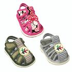 New Baby Girl & Boy Toddlers Closed Toe Squeaky Sandals Shoes Adjustable Strap