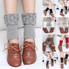 Womens Ladies Winter Autumn Crochet Knitting Leg Warmers Slouch Boot Socks HOT .