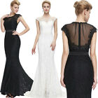 New Mermaid Lace Long Wedding Bridesmaid Party Ball Gowns Evening Prom Dresses