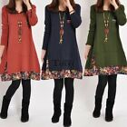 Women Long Sleeve Tops Loose Knitted Oversize Party Pullover Jumper Tunic Dress