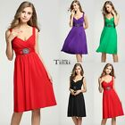New Womens Ladies Short Buckle Evening Party Bridesmaid Mini Dress Plus TXCL