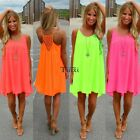 Fashion Women Backless Short  BOHO Evening Party Beach Mini Dress Sundress Lot