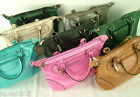 ladies fashion leather look tote holdall shopping bag crossbody quality hand bag