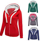 Women Plain Sweatshirt Ladies Hooded Black Red Top Tee Plus Size Summer Jumper