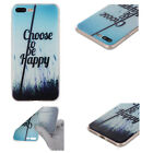 Rubber Pattern Soft TPU Silicone Back Case Cover For Apple iPhone 8 7 Plus 6s 5s