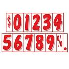 7 1/2 Inch Red & White Adhesive Number  (multiple item shipping discount)