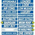 15 Inch Blue & White Sign Stickers (multiple item shipping discount)