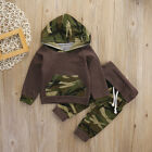 2pcs/set Camouflage Tops Hoodie +Long Pants Clothes Outfits Set for Baby Boys