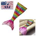 2016 Latest Handmade Soft Material Rainbow Mermaid Tail Blanket with Scales Gift