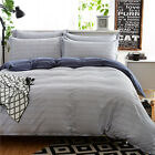 Striped 100% Cotton Quilt/Doona Cover Set Single/Queen/King Bed Size Duvet Cover