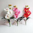 Artificial Floral 3 Head Orchid Phalaenopsis Flower Home Garden Decor Gift