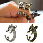 Vintage French Bulldog Animal Wrap Rings Gift for Women and Men Fashion 5G1