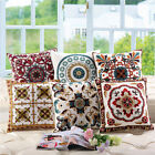 Square Cotton Linen Embroidered Cushion Cover Throw Pillow Case Home Sofa Decor