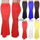 Summer Women High Waist Maxi Skirts Solid Color Casual Beach Long Skirts Clothes