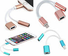 2 in 1 Lightning to 3.5mm AUX Jack Adapter Cable For 5G 5S SE 5C 6 6S 6+ 7G 7+