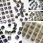 Pick Colors #5601 Swarovski Crystal 8mm Cube Square Beads Special Coating 2pcs