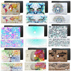 Handmade Pattern Printing Hard Rubberized Case Soft KB Cover for Macbook Laptops