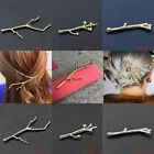 Branch Hairpins Gold Silver Hair Clips For Women Bobby Pins Simple Design 2PCS