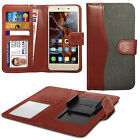 For Leagoo Elite 5 - Fabric Mix Clip Function Wallet Case Cover