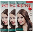 Restoria Express Restoring Hair Dye For Cover Grey Hair Qick Color Cream New
