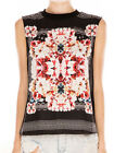The Fifth Label Moon Safari Black White Red Floral Box T Shirt Tank Top