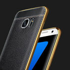 Luxury Fashion Ultra-thin TPU Leather Soft Silicone Back Case Cover For Samsung