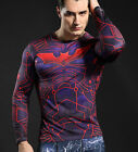 Marvel Superhero Compression Tights Long Sleeve T-Shirts Bicycle Jersey Tops 36