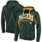 Green Bay Packers Hands High 17 Mens Hands High Home Run Fz Hood Sweatshirts
