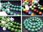 8mm,10mm,12mm,14MM beautiful Howlite Turquoise Round Loose Beads 16""