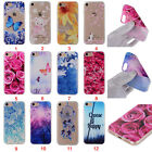 Cute Rubber Patterned Silicone Painted Soft TPU  Cover Case For iphone Sony LG