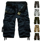 Fashion Men Cotton Army Casual Trousers Combat Cargo Pants Working Sports Shorts