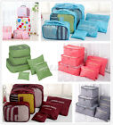 6pcs Travel Luggage Organizer Bag Waterproof Clothes Socks Packing Cube Storage