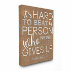 'Never Give Up Babe Ruth' Stretched Canvas Wall Art