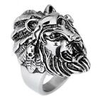 316L Stainless Steel Men's Jewelry Gothic Biker Lion Ring Father Gifts  US 8-12#