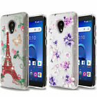 For LG Aristo LV3 MS210 Hard Gel Rubber KICKSTAND Case Phone Cover Accessory