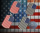 New America USA Flag Military Double Necklaces Dog Tags Necklace