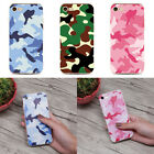 Camouflage Pattern Phone Case Cover For iPhone 6 6s 5 5s 7 7Plus Pink Green Blue