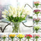 10 Head False Tulip Tulips Real Touch PU Fake Flowers Bouquet Home Wedding Decor