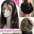 8A+ 360 Lace Band Frontal Closure Unprocessed Peruvian Virgin Human Hair US F38