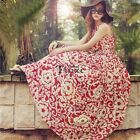 New Women Lady Floral Party Cocktail Prom Vintage Chiffon Sleeveless Maxi Dress