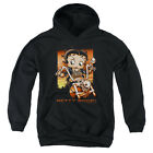 Betty Boop Sunset Rider Big Boys Youth Pullover Hoodie BLACK $35.57 USD
