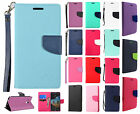 For Alcatel OneTouch Flint Premium Leather 2 Tone Wallet Case Pouch Flip Cover
